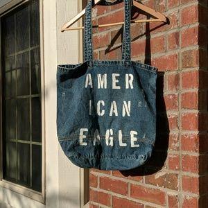 NWOT American Eagle denim tote bag